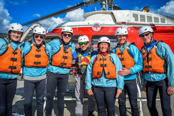 Heli rafting with Glacier Raft Company in Golden, BC