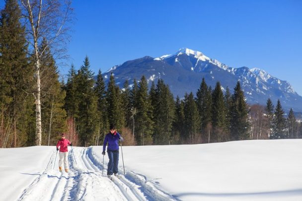 Cross country skiing in Golden, BC