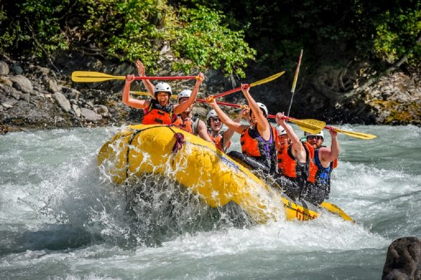 Whitewater rafting with Glacier Raft Company in the Canadian Rockies