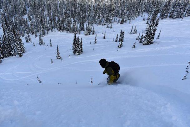 Snowboarding in Golden, BC