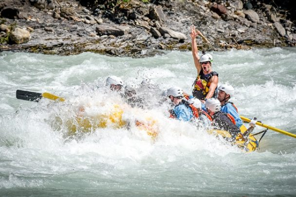 Rafting the Kicking Horse River in Golden, BC