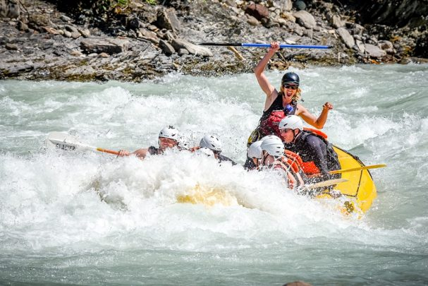 Whitewater rafting the Kicking Horse River in Golden BC