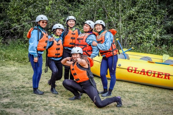 Whitewater rafting with Glacier Raft Company