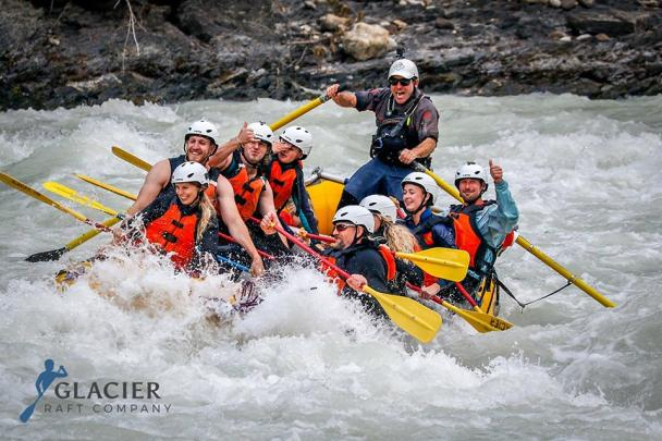 Whitewater rafting in Golden BC on the Kicking Horse River