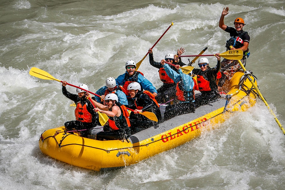 White water rafting in Golden BC
