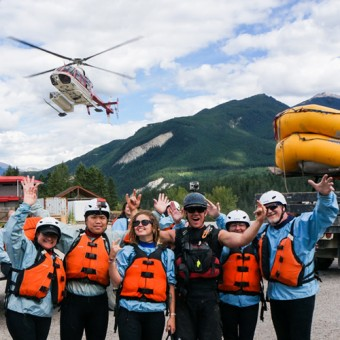 white water heli rafting on the kicking horse river