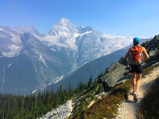 Hiking Abbott Ridge in Glacier National Park, BC