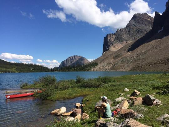 Hiking and canoeing at Gorman Lake in Golden BC
