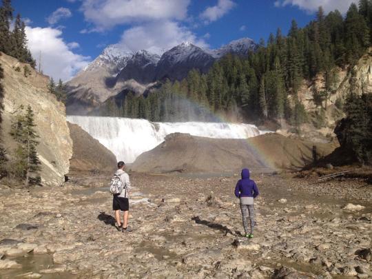 Wapta Falls in Yoho National Park, B.C.