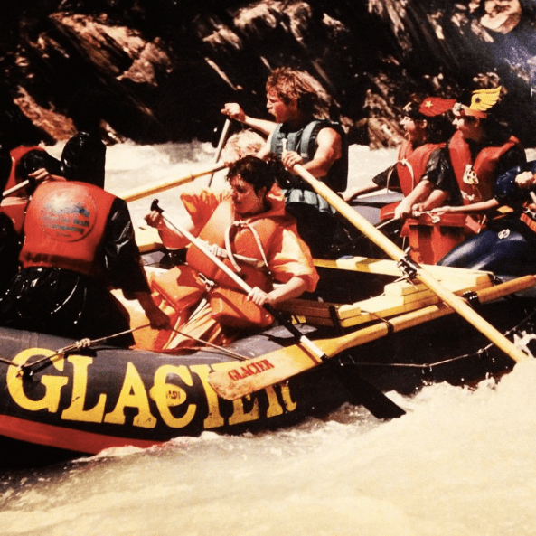 Rafting with Glacier Raft Company in 1980s Golden BC