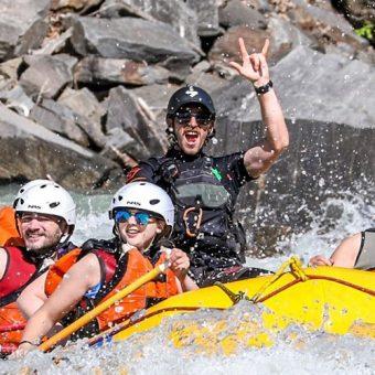 Whitewater Rafting Kicking Horse River, Golden, B.C.