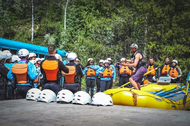 Safety Briefing Kicking Horse River Golden BC