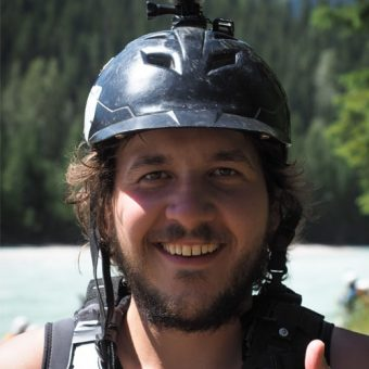 Scenic family rafting on Kicking Horse River in Golden BC