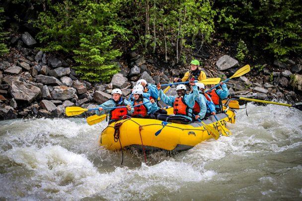 River rafting Kicking Horse River Golden B.C.