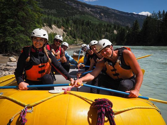 Whitewater Rafting in Golden B.C. on Kicking Horse River