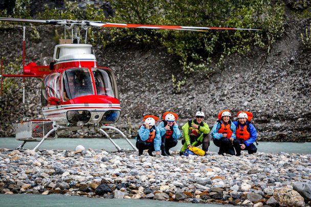 Heli rafting Kicking Horse River in Golden BC