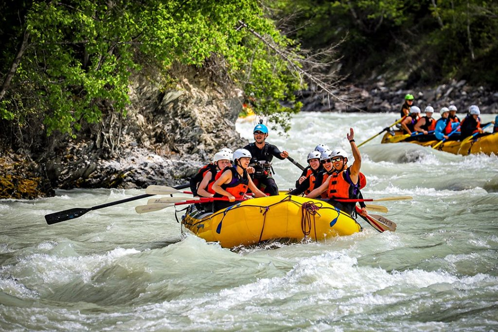 Fun rafting in Golden BC with Glacier Raft Company