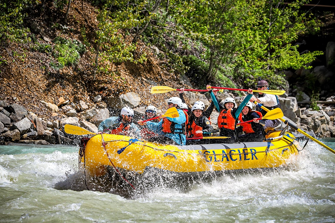 White Water Rafting Kicking Horse River Golden B.C.
