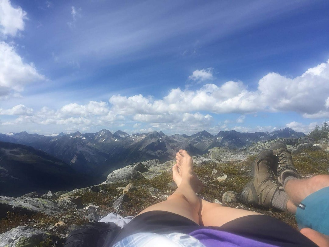 hiking and relaxing in glacier national park, bc