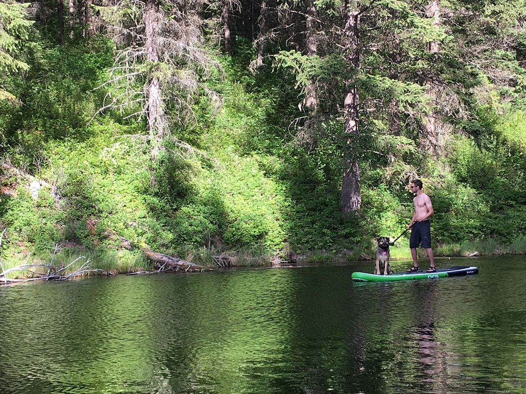 SUPing in Golden, BC