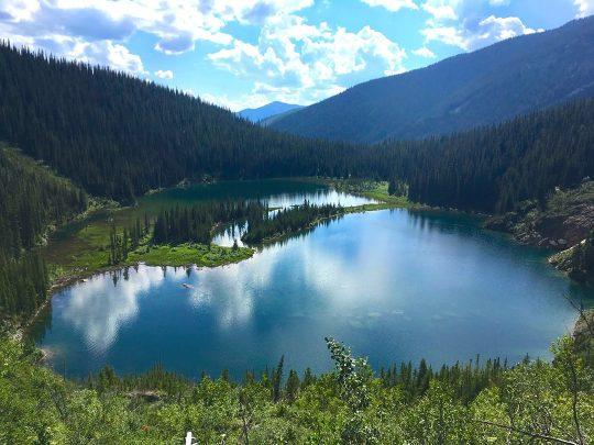 dainard lake hike golden bc