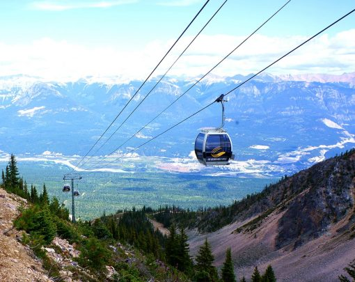 gondola ride kicking horse mountain resort golden bc