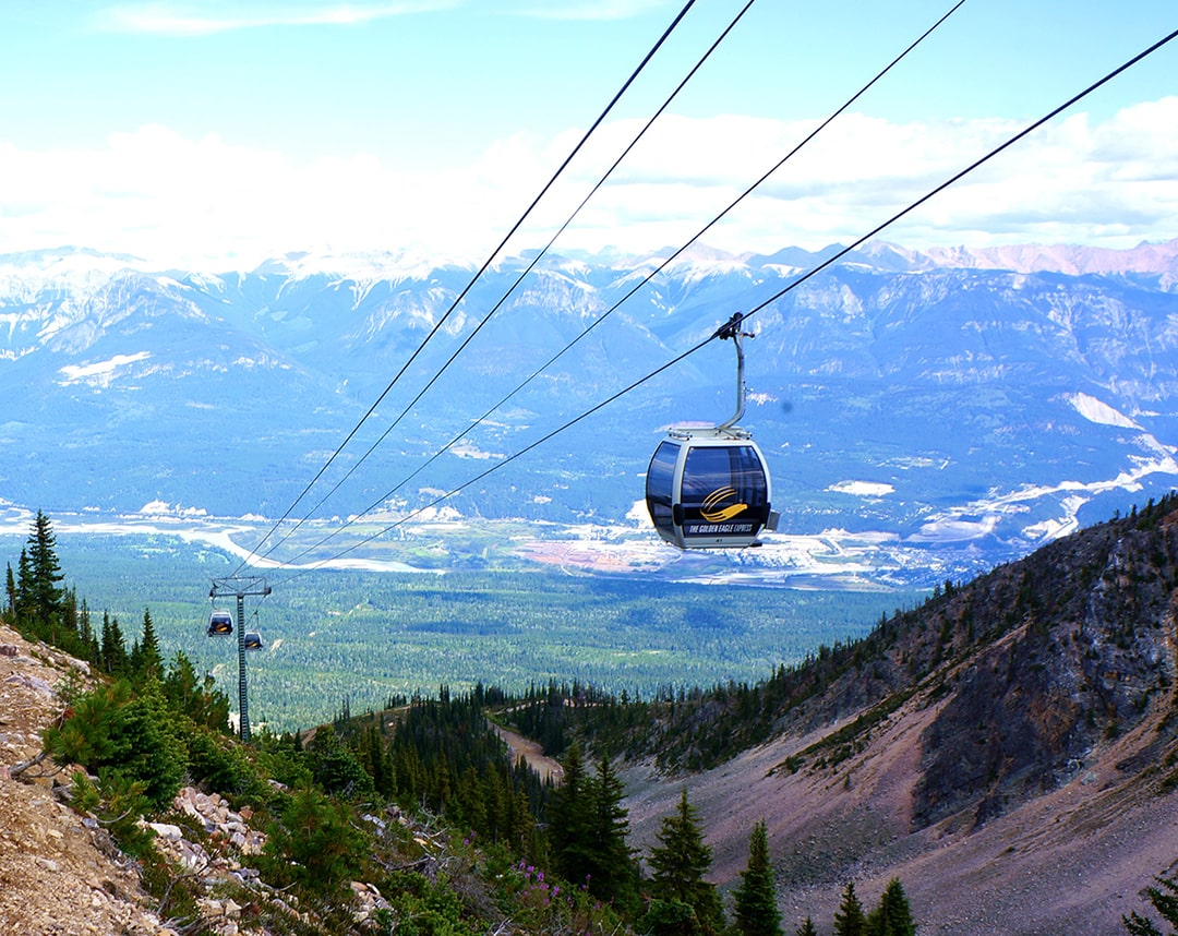 Kicking Horse Mountain Resort gondola opening summer 2021 in Golden,BC