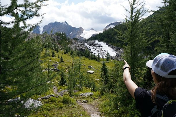 lake of hanging glacier hike golden bc