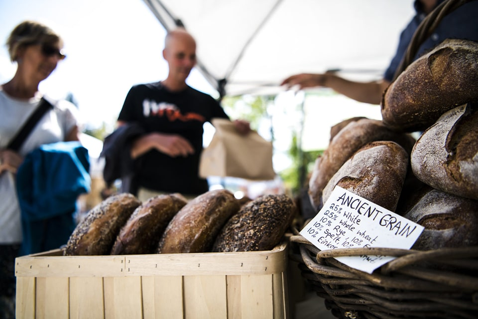 Fresh bread at Farmers' Market in Golden BC