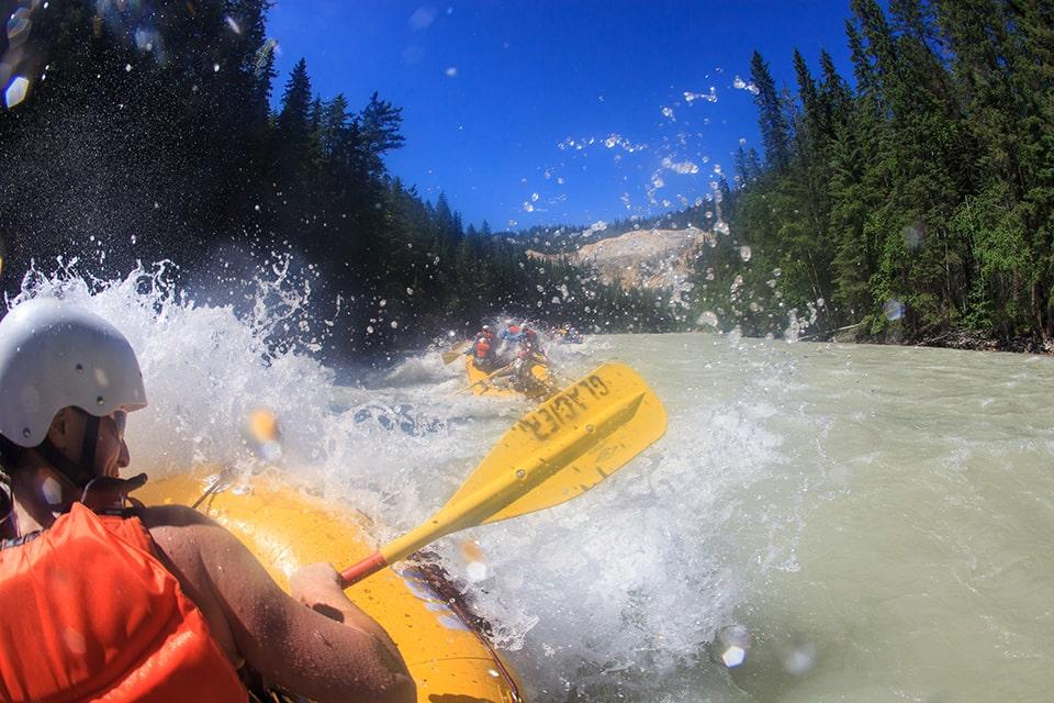 White water rafting Kicking Horse River Golden BC