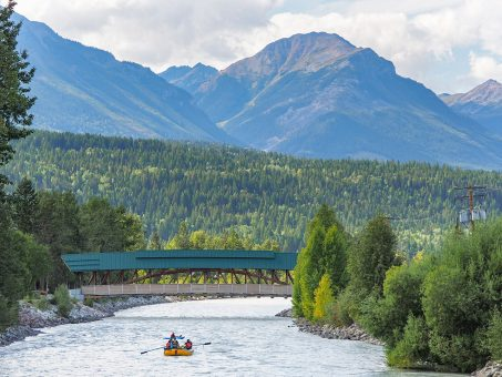 Rafting Kicking Horse River through Golden BC