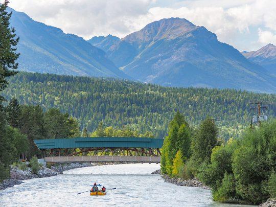 Rafting Kicking Horse River through Golden BC