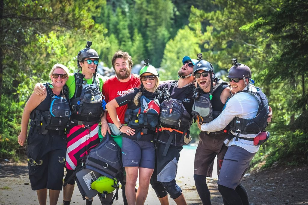 Staff at Glacier Raft Company in Golden BC