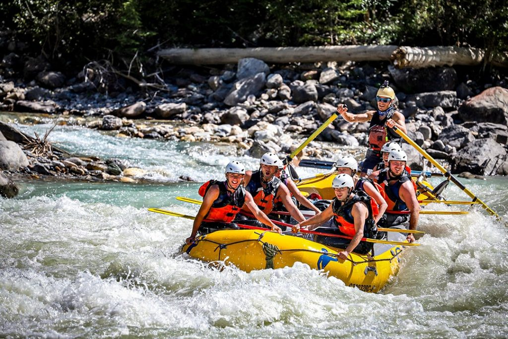 Rafting in Golden BC on the Kicking Horse River