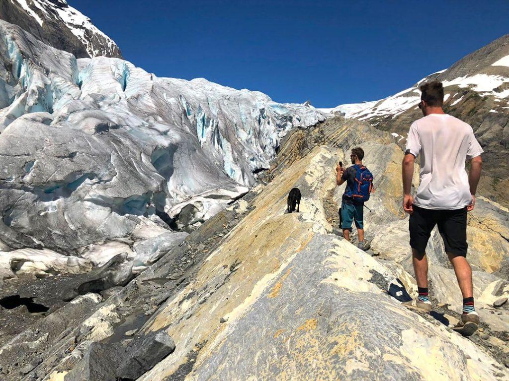 Hiking to Mummery Glacier Golden BC