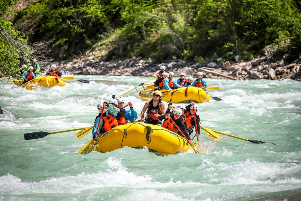 Rafting the Kicking Horse River, Golden BC