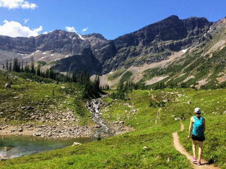 Girl hiking in Golden, BC