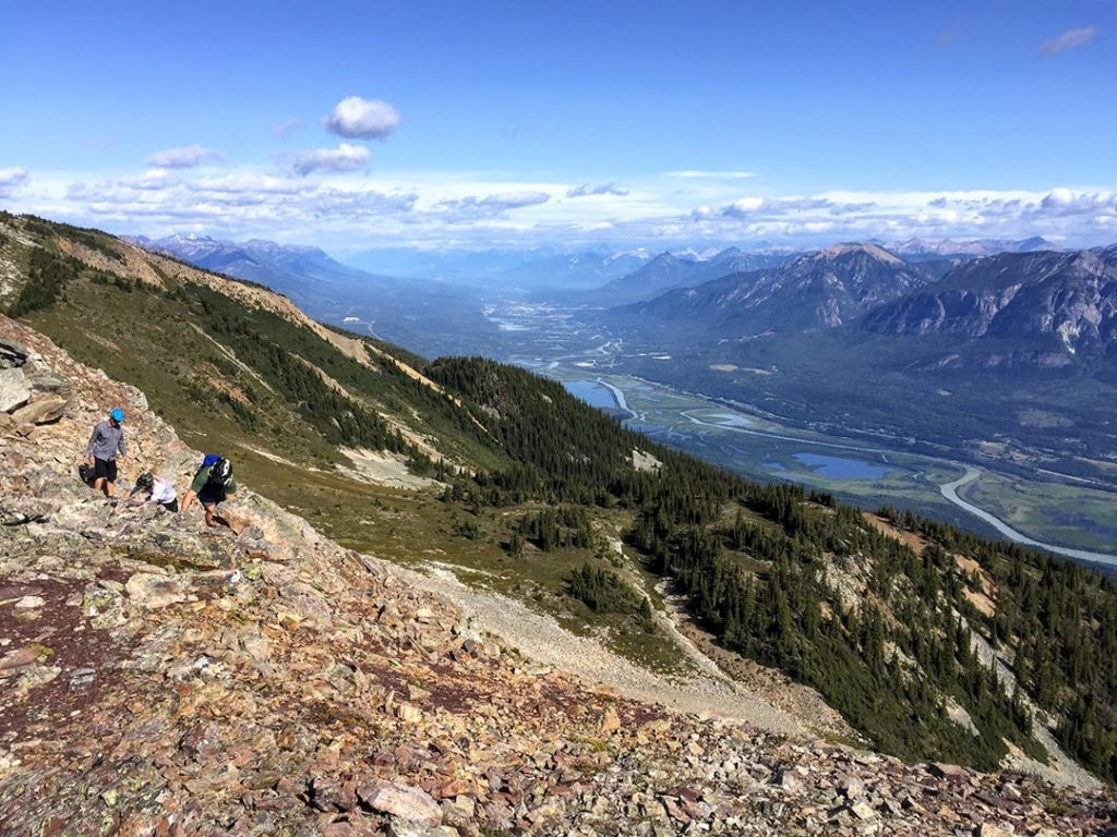 Hiking above the Columbia Valley in Golden, BC