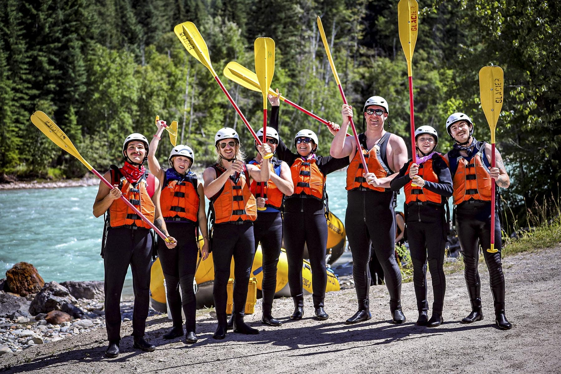 Guests of Glacier Raft Company who provide reviews and testimonials