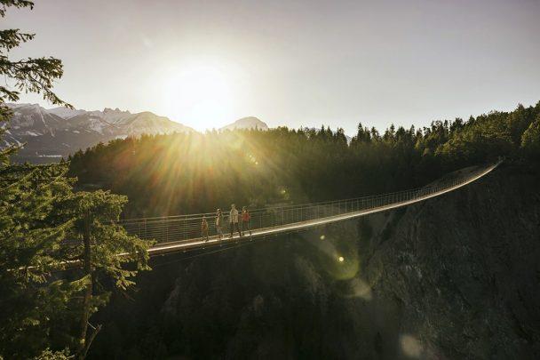 Suspension bridge at Golden Skybridge, BC